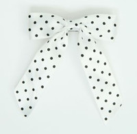 Dot full white-black dot hair clips piece