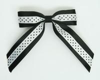 Dot black / white-black dot hair clips piece
