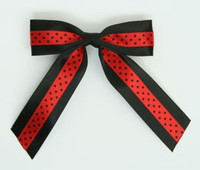 Dot black / red-black dot hair clips piece