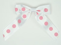 Dot big white / white-pink dot hair clips piece