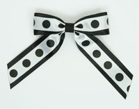 Dot big black / white-black dot hair clips piece