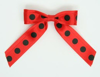 Dot big red / red-black dot hair clips piece