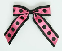 Dot big black / pink-black dot hair clips piece