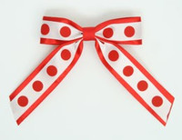Dot big red / white-red dot hair clips piece