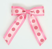 Dot big D pink / L pink-D pink dot hair clips piece