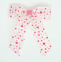 Dot retro pink dot hair clips piece