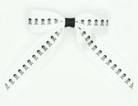 White / white-black skull hair clips piece
