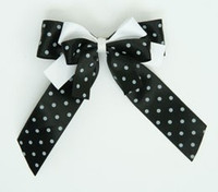 Dot black / black-white double hair clips piece