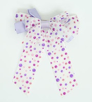 Dot retro purple double hair clips piece