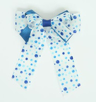 Dot retro blue double hair clips piece