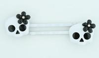 Skull flower white-black skull slide