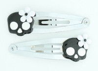 Skull flower black-white skull special