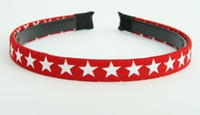 Cotton star red-white small tiara