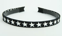 Cotton star black-white small tiara
