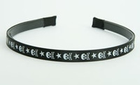 Skull star V black-white small tiara