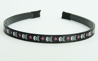 Skull Star V Black-pink small tiara