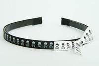 SL skull black-white / white-black big tiara