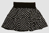 Dot L black-white cute & dangerous mini skirt