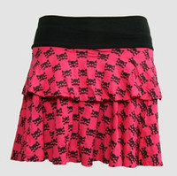 Cute skull pink cute & dangerous mini skirt