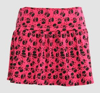 1L Big skull pink cute & dangerous mini skirt
