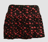 1L 3 Stars black-red cute & dangerous mini skirt