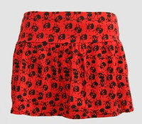 Big skull red cute & dangerous mini skirt
