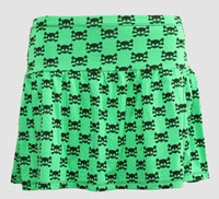 Cute skull green cute & dangerous mini skirt