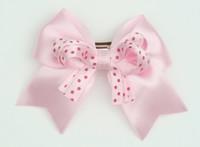 Dot L pink / L pink-D pink dot cute clean
