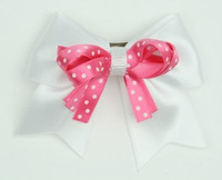 Dot white / D pink-white dot cute clean