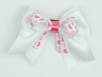 Heart white/ white-L pink heart cute clean