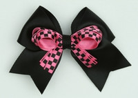 Check black / D pink check cute clean