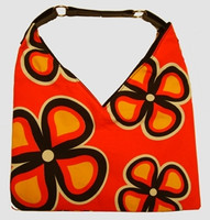Flower oranje V bag Bag