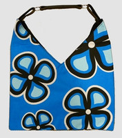 Flower blue V bag Bag