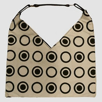 Double dot white V bag bag