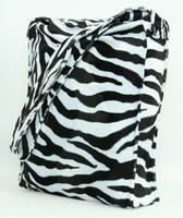 Zebra black-white LV large fluffy bag