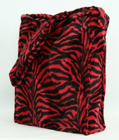 Zebra black-red LV large fluffy bag