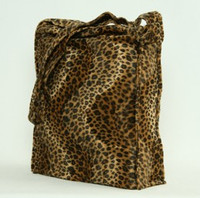 Leopard brown LV large fluffy bag