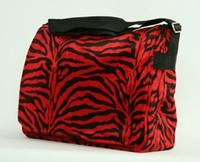 Zebra red LH large fluffy bag