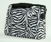 Zebra white LH large fluffy bag