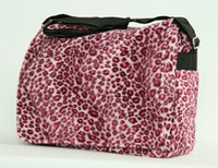 Leopard pink LH large fluffy bag