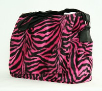Zebra pink LH large fluffy bag