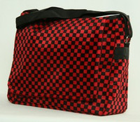 Check red LH large fluffy bag