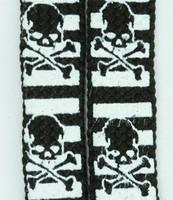 Skull stripe V black-white skull B&W skull