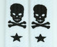 Skull V star white-black skull B&W skull