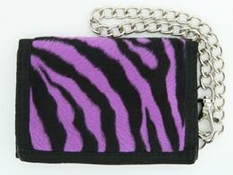 Zebra purple fluffy with chain wallet