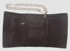 Check black-blue fluffy with chain wallet