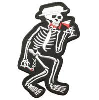 Drunk skelet skull big