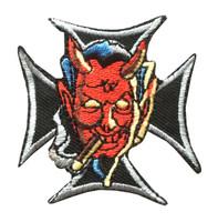 Devil cross skull big
