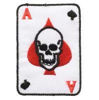 Poker skull white skull big