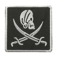 Pirate black-white squared skull big